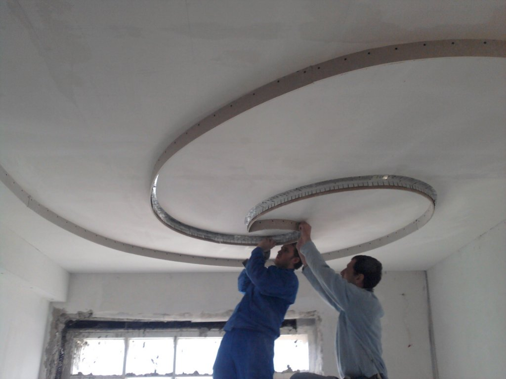 Потолок из гипсокартона ремонт своими руками 734