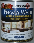 Краска самогрунтующаяся Zinsser Perma White, 0,9л.